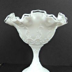 Vintage Fenton Art Glass Silver Crest by CricketLaneDesigns