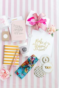 "Trouvaille Workshop Wedding Inspiration hosted by Hey Gorgeous Events, Bradley James Photography, ""Follow Your Bliss"" gold foil notebooks by b is for bonnie design"