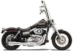 Bassani Road Rage II B1 Exhaust System Chrome Harley FXDBI Dyna Street Bob 2006
