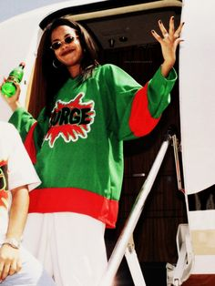 38a2edc0 aaliyahs favourite drinks were Surge and Pepsi. aaliyah got to choose the  winner out of a hat for a surge competition. Hella Thrifty · 90s Fashion