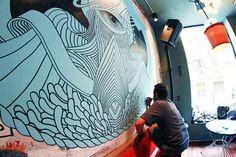 """THE EYE OF GUZZO"" Mural Painting - Joan Tarrago"