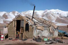 Road Maintenance Tented Dwelling Landscape Aksai Chin Tibetan Plateau | by eriagn