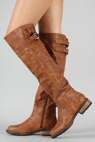 Qupid Relax-01X Buckle Knee High Boot $21.80