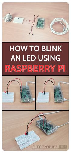 how to blink an LED using Raspberry Pi
