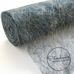 Tangle Tuft Sinamay Fabric (1/2 yard) for Millinery & Hat Making - Multi-Tone Navy