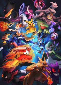 The Pokemon All Regions With Their Images And Battle Field Ground And Pokemons. The Regions Are Hoenn, Johto, Kalos, Unova, Kanto And Sinnoh. Pokemon Firered, Pokemon Eeveelutions, Pokemon Fan Art, Pokemon Cards, Charizard, Charmander, Pokemon Stuff, Hd Pokemon Wallpapers, Pokemon Backgrounds