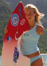 """Bethany Hamilton!! I loved soul surfer! And her, she has a great """"I am second"""" video!"""