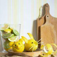 Des souris sculptées dans des citrons