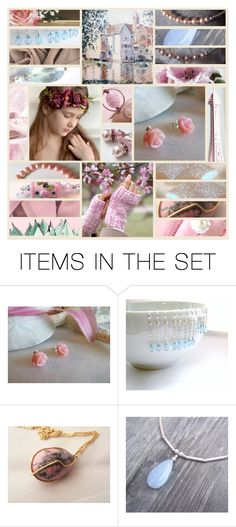 """Etsy Collage - Dream"" by rosa-shawls ❤ liked on Polyvore featuring art, rustic and vintage"