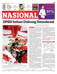 Harian Nasional - 04 Agustus 2016 | DPRD Belum Dukung Demokrasi | Harian Nasional
