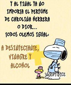 Funny Cartoon Quotes, Snoopy Quotes, Funny Emoji, Funny Cartoons, Spanish Love Phrases, Spanish Jokes, Funny Spanish Memes, Good Day Quotes, Crazy Quotes