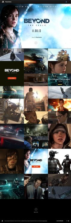 One pager to create hype with exclusive pictures and videos for Quantic Dream's upcoming Playstation game 'Beyond: Two Souls'.