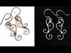 Easy Jewelry Tutorial : Simple Wire Wrapped Filigree Swirl Earrings