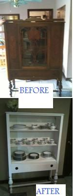 Old China Cabinet Facelift. Made by Audrey