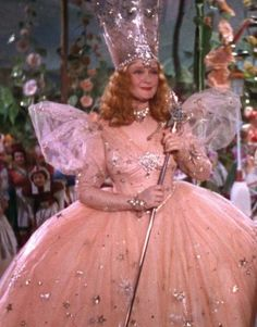 Glinda the Good Witch.  I watched The Wizard of Oz every year when they reran it on TV. I alway thought Billie Burke as Glinda was the most beautiful creature I had ever seen!