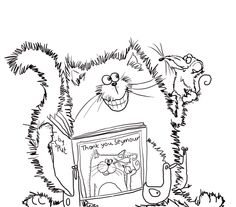 Splat The Cat Says Thank You Coloring Page