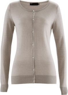 Premium Cardigan aus Seide/Cashmere naturstein - bpc selection premium jetzt im…