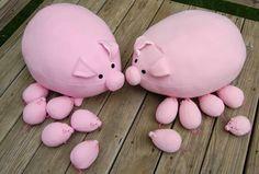 Интерьерные куклы Кузнецовой Евгении: Милые свинки. Выкройка и схема