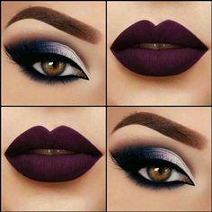 Bold lips, smoky eyes