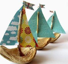 DIY Little Nut Boats