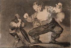 """"""" El bobalicón """" by Francisco de Goya - aguafuerte -"""