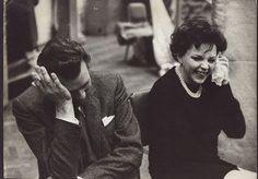 Dirk Bogarde and Judy Garland