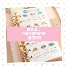 2016 yearly calendar overview