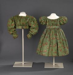 Child's green dress. Ireland, 1835 ROM Twitter