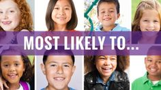 Get ideas for ways to recognize students in your classroom, school, or yearbook with titles like Most Likely to Run for Congress, Most Likely to Open an Animal Shelter, and Most Likely to Write a Best Seller.