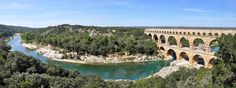 Pont du Gard and the river the Gardon