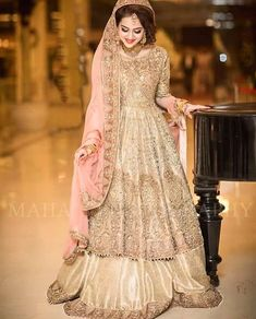 The Pakistani Bride Asian Wedding Dress Pakistani, Indian Wedding Gowns, Wedding Dresses For Girls, Bridal Wedding Dresses, Pakistani Dresses, Bridal Outfits, Indian Dresses, Indian Outfits, Pakistani Mehndi