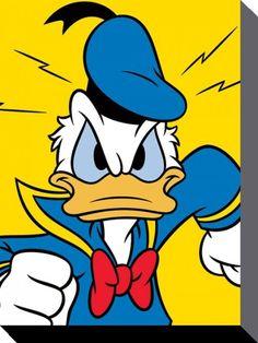 Donald Duck - Disney - Mad - Official Canvas Print #DonaldDuckEsq