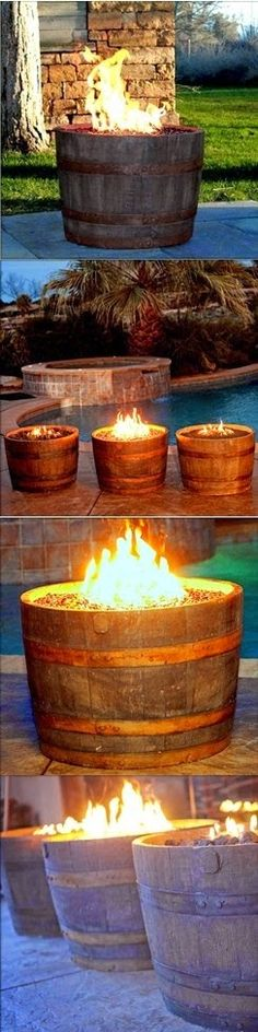 Whiskey Barrel Fire Pit