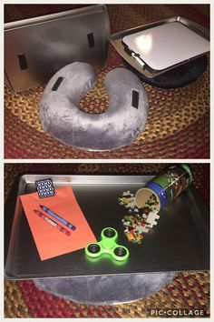 2 in 1 lap desk for kids...and it only cost me $6 to make!!!