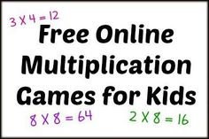 Free Online Multiplication Games for Kids
