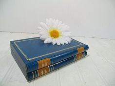 Vintage Blue Leatherette & Gold Tooled Trim Book by DivineOrders