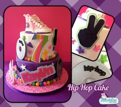 Hip Hop cake with shoe and Cds