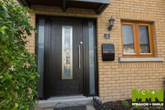 Need Composite Doors? We are Dublin's leading Front Doors experts. We are located in Swords, Dublin. Visit our website to see our Exterior doors. Composite Front Door, Contemporary Front Doors, Green Plates, Front Door Design, Exterior Doors, Windows And Doors, Dublin, Facade, Modern Design