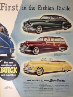 New Buick Models & Pricing Vintage Advertisements, Vintage Ads, Buick Models, Buy Classic Cars, Buick Cars, Ad Car, Car Posters, Car Advertising, Old Ads