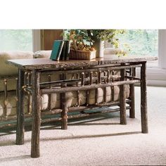 B 113 Berea Sofa Table - Flat Rock Furniture Hickory Furniture, Cabin Furniture, Fine Furniture, Living Room Furniture, Outdoor Furniture Sets, Black Forest Decor, Wooden Console Table, Flat Rock, Rustic Coffee Tables
