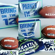 Stampin Up Gift Bag Punch Board. Seattle Seahawks