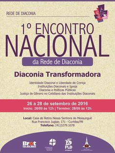 Cartaz divulgação 1º Encontro da Rede de Diaconia
