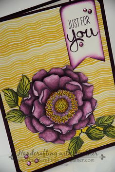 New Blended Bloom stamp from Stampin' Up! colored with Blendabilities Markers.  Heather Van Looy, Independent Stampin' Up! Demonstrator in Johns Creek, GA.  Follow my blog for more great projects (www.handcraftingwithheather.com).
