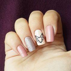 "Páči sa mi to: 14, komentáre: 1 – Domi Králiková (@domi_nailart) na Instagrame: ""Fox🦊💅 #fox #foxnails #autumn #nude #autumnmood #oldpink #mattenails #mattetopcoat #glitter…"""