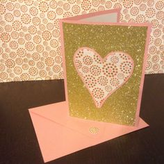 Handmade Pink & Gold Glitter Decorative by CreateDontDeliberate, $3.90