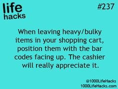 Or at least get them ready while they're scanning the other stuff on the conveyor belt.