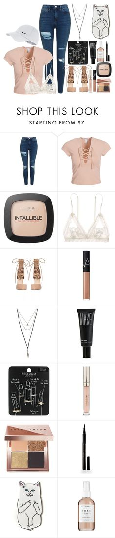 """""""Untitled #101"""" by itshammertime ❤ liked on Polyvore featuring Topshop, NLY Trend, L'Oréal Paris, Hanky Panky, NARS Cosmetics, Forever 21, Make, Stila, Bobbi Brown Cosmetics and Elizabeth Arden"""