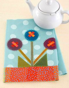 What a cute dish towel for the kitchen!! These would be great Christmas gifts or if you sale your stuff in craft shows these would be a great seller!!