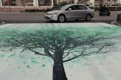 China Environmental Protection outdoor campaign, green advertising with pedestrian