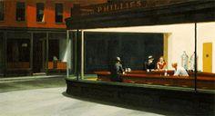 "Edward Hopper American, Nighthawks, 1942 Oil on canvas x cm x 60 in.) signed l. ""Edward Hopper"" Friends of American Art Collection, American Art Gallery 262 Edward Hopper Obras, Edward Hooper, Van Gogh, Kunst Poster, Mary Oliver, Grand Palais, Art Institute Of Chicago, Mondrian, Edgar Degas"